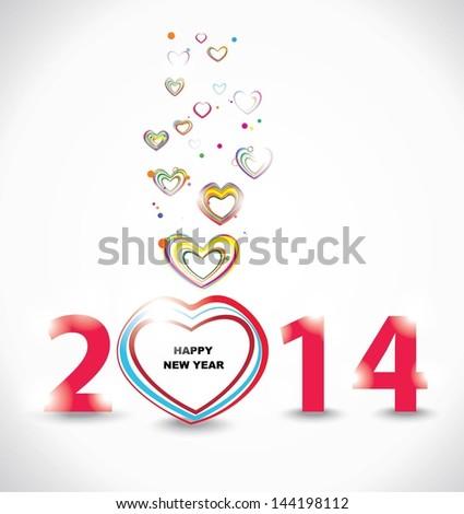 New year 2014 design - stock vector