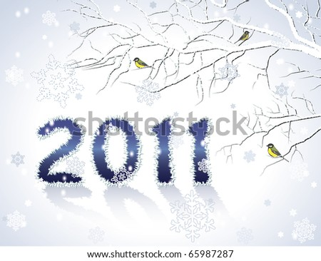 New Year greeting card or background - stock vector
