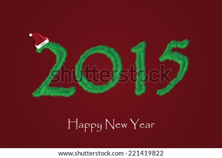New Year 2015 greeting card vector illustration