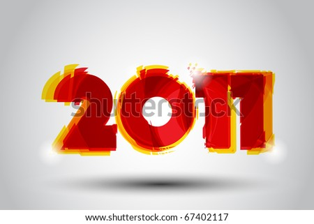New Year Illustration - stock vector