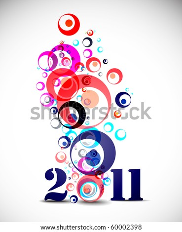 new year 2010 in white background. Vector illustration - stock vector