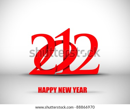 new year 2012 in white background. Vector illustration - stock vector