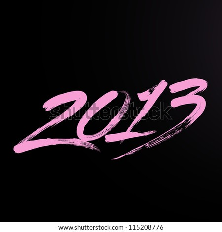 New year 2013 lettering. Writing 2013. - stock vector