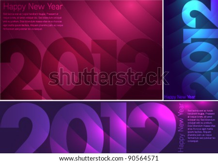 new year modern design background