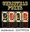 New 2016 year poker cards banner, vector illustration - stock vector