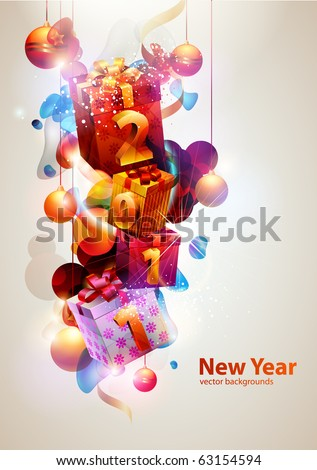 New year poster. - stock vector