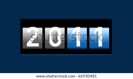 New Year realistic counter - stock vector