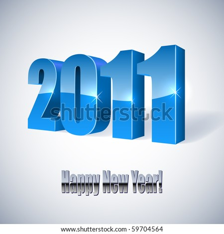 New 2011 year's card. - stock vector