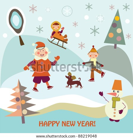 New Year's holiday - stock vector