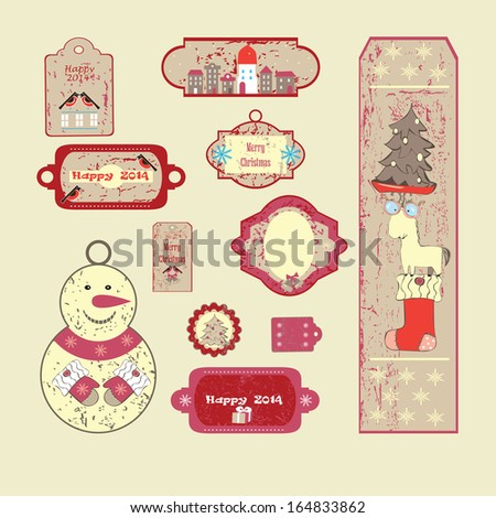 New year's label. - stock vector