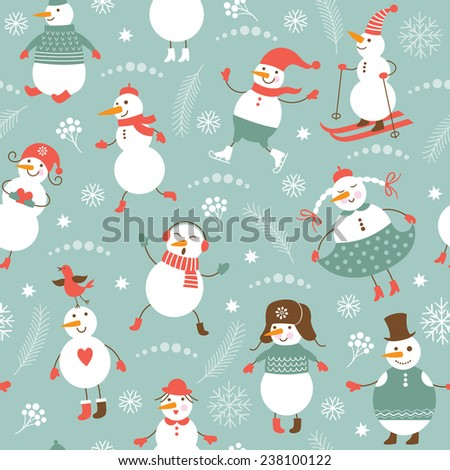 New Year's seamless background  - stock vector