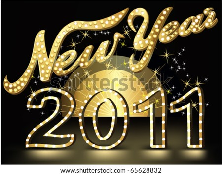 New Year's show background - stock vector