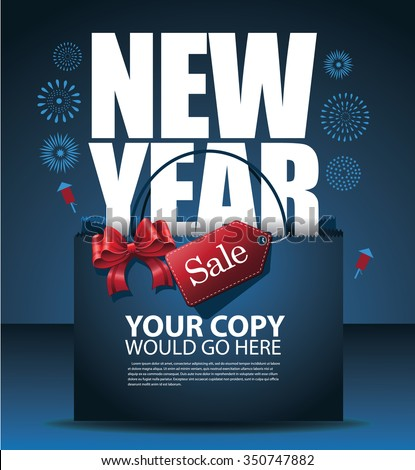 New Year sale design Eps10 vector - stock vector