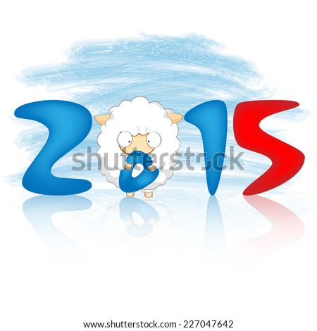 new 2015 year sheep. Vector Illustration - stock vector