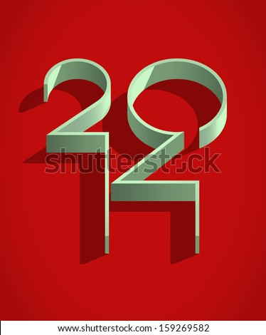 New 2014 year sign - stock vector