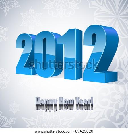 New 2012 year vector card. EPS10. - stock vector