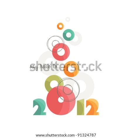 New Year 2012, Vector EPS10. - stock vector