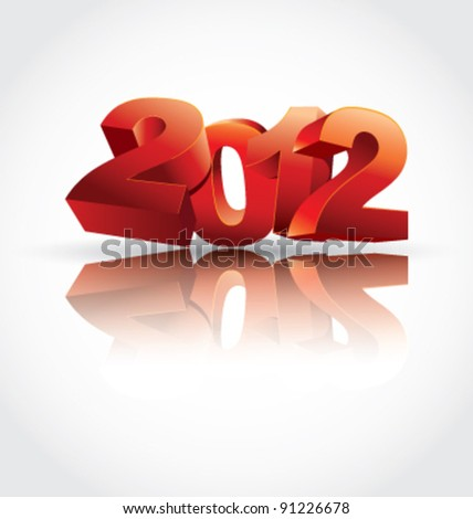 New Year vector illustration - stock vector
