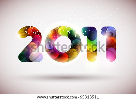 New Years 2011 - stock vector