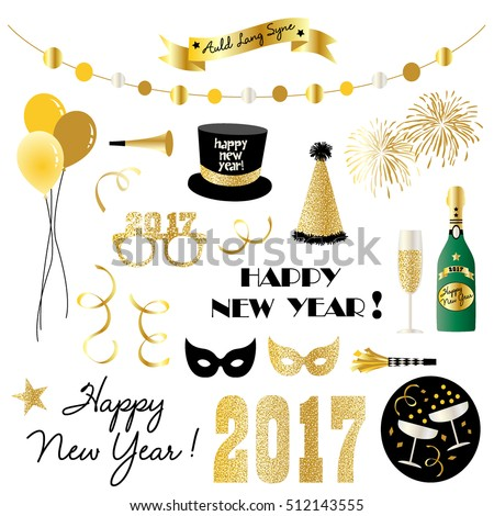 new years eve clipart stock vector 2018 512143555 shutterstock rh shutterstock com new year's eve clip art free images new year's eve clipart free