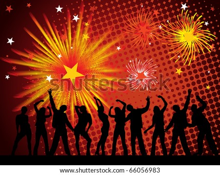 new years eve 2011 - vector - stock vector