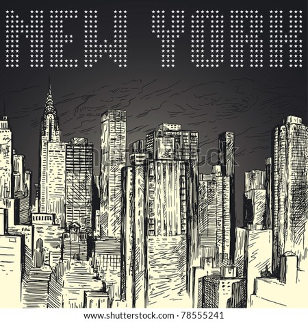 new york - stock vector