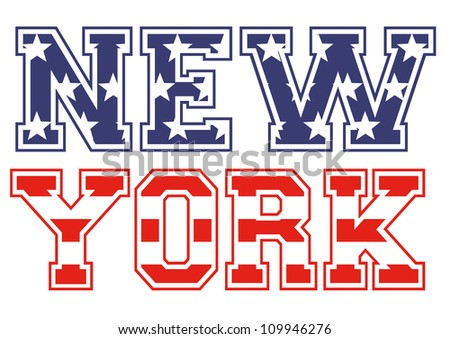 New-York american flag - stock vector