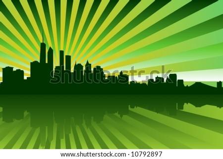 New York Backgorund - stock vector