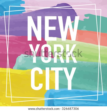 New York City Design - stock vector