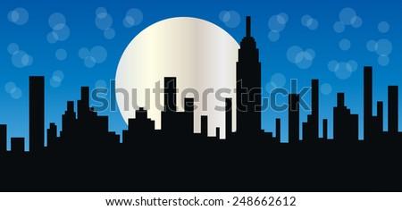 New York City header or banner - stock vector