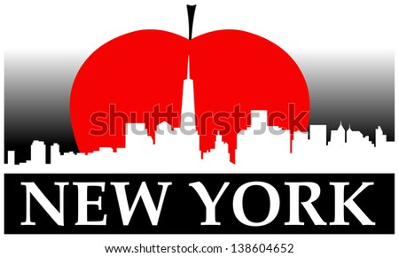 New York city high-rise buildings skyline - stock vector