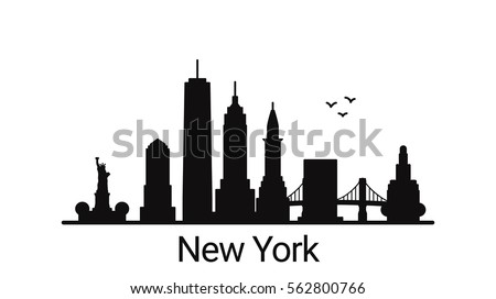linear banner new york city all stock vector 383768221 shutterstock. Black Bedroom Furniture Sets. Home Design Ideas