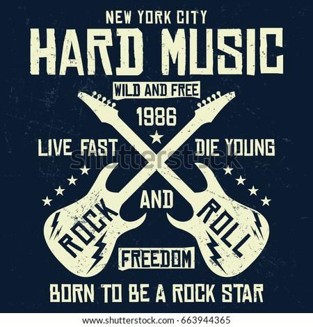 Brand new New York City Rock Roll Hard Stock Vector (2018) 663944365  YU37