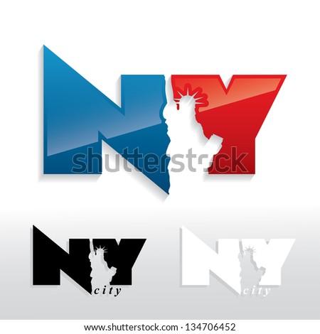 New York City sign - vector illustration - stock vector