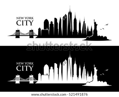 New York City skyline - vector illustration