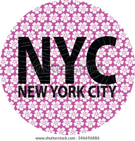 New York  City Slogan vector print and varsity. For t-shirt or other uses in vector.
