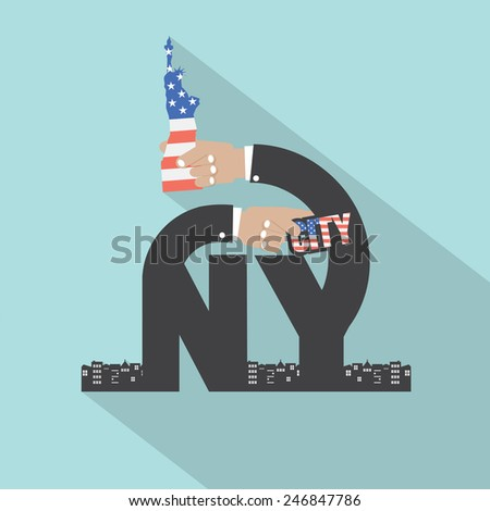 New York City Typography Design Vector Illustration - stock vector