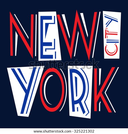 New York city Typography Graphics. Fashion stylish printing design for sportswear apparel. NYC original wear. Concept in vintage graphic style for different print production. Vector illustration - stock vector
