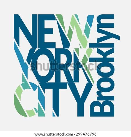 New York City Typography Graphics. Man's T-shirt Printing Design. NYC original wear. Fashion Design Print for sportswear apparel. Vector illustration - stock vector