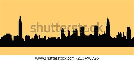 New York cityscape - stock vector
