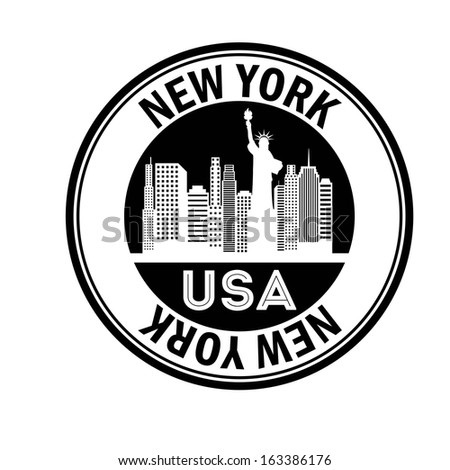 new york design over white background vector illustration - stock vector