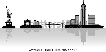 New York illustration - stock vector