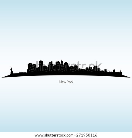 New York Silhouette Skyline  - stock vector