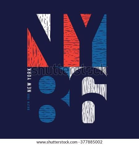 New york sport typography, t-shirt graphics, vectors - stock vector