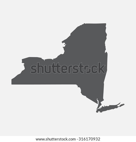 New York state border map. - stock vector