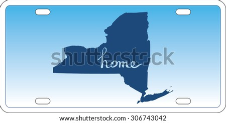 New York state license plate vector - stock vector