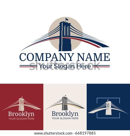 new york symbol brooklyn bridge vector stock vector 2018 668197885 rh shutterstock com brooklyn bridge silhouette vector brooklyn bridge skyline vector