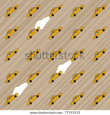 New York Taxi Background - stock vector