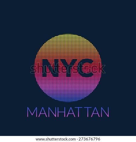 New York typography, t-shirt graphics. Vector illustration. - stock vector