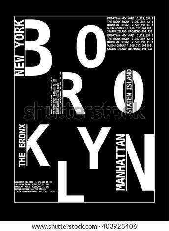 New York typography, t-shirt graphics. vector illustrations. - stock vector